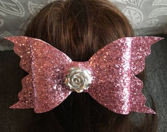 Handmade - Pink Glitter Bow - Luxury Party Bow