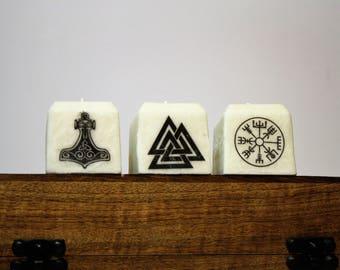 Asatru Symbol Set   Heathen Candles   Meditation, Ritual, Devotional Candles