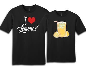 Couple Shirt, I Love Lemonade, Lemonade, Lemonade Shirt, Couples Shirts, Valentine Shirt, Gift For Her, Gift For Him, Valentine
