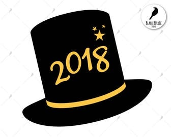 New year hat clipart | Etsy
