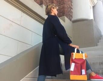 RU Italian wool, navy blue coat