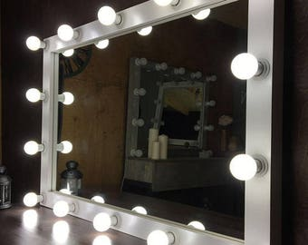 Vanity mirror etsy vanity mirror with lights hollywood mirror glamor mirror with lights makeup mirror aloadofball Images