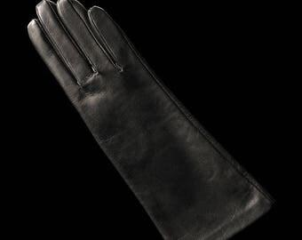 Clasic Women Italian Lambskin Gloves Lined Cashmere