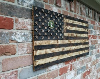Burnt Wood, Army flags