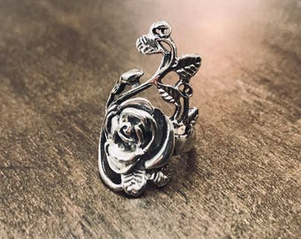 925 silver ring with Rose