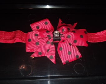 red black head band