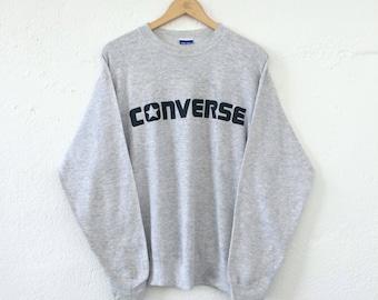 Vintage Converse Sweatshirt Spellout Big Logo Size L