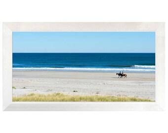 Horses on Hampton Beach NH, Photography, Fine Art, Home decor, Wall art, large framed print