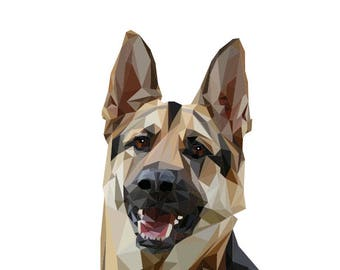 Art Print Shepherd Dog