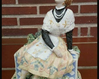 Antique Porcelain Fallera