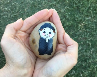 Hand Painted Saint John Bosco Rock, Catholic, Saint, Handmade,