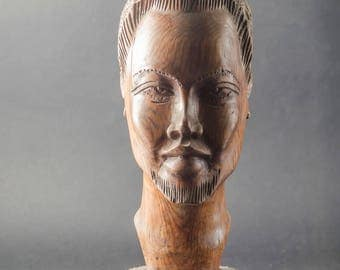 Wooden carved african Statue