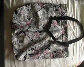 Flower reversible Tote bag