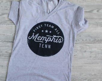 First Team All Memphis V-Neck