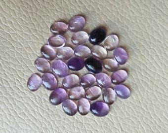 Natural Amethyst Oval Cabochons 9x5 MM Approx 30 Pcs Natural African Amethyst Cabochon Gemstone Lot, Beautiful Amethyst Healing Crystal