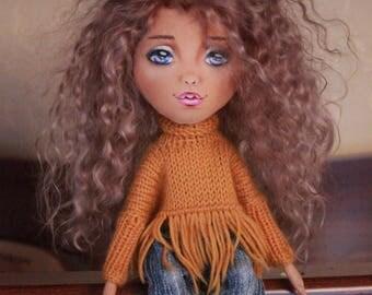 Doll baby craft textile doll tilda doll birthday gift doll interior doll fabric dolls gift decor handmade doll art doll in cloth vintage