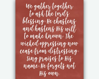 We Gather Together Print | Wall Art | Instant Download | Printable
