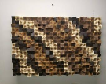 Wall Hangings, Wall Sculpture, Handmade Wood Art, Wood Wall Decor, Wood Mosaic, Custom Wall Decor, Wall Art, Reclaimed Wood Art