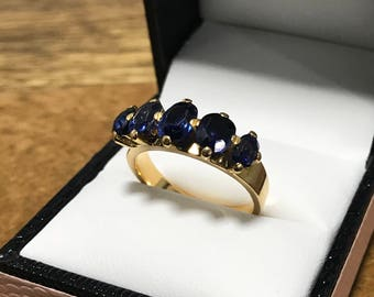 Antique 18 CT Gold & Sapphire Ring