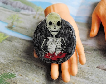 Ghost Cage Pin