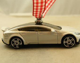 Tesla - FREE SHIPPING - Valentines Ornament -  Model S - a man cave or she shed must have
