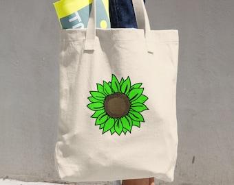 Cotton Sunflower Tote Bag