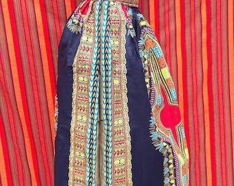 Ankara maxi,African maxi,African dresses,Highwaist skirt,African wax print,African print maxi,Dashiki maxi,Black maxi