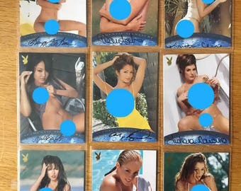 Playboy wet and wild autograph trading cards lot of 9