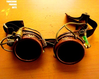 Steampunk Goggles / Customised goggles / welding Goggles / cosplay / display / Vintage Victorian Goggles