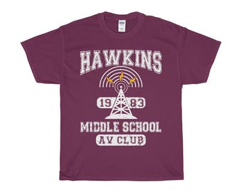 Stranger Things Shirt. Hawkin Middle School AV Club 1983 TShirt