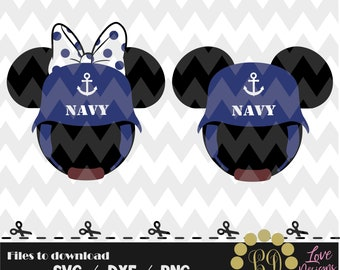 Minnie Mickey Navy svg,png,dxf,cricut,silhouette,jersey,shirt,proud,birthday,invitation,disney,cutting,soldier,mom,wife,sis,bro,army us