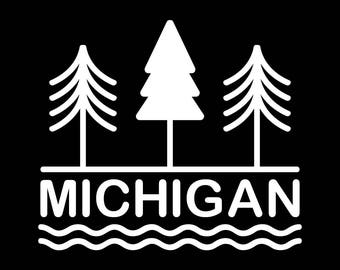 Mi state of mind etsy michigan state of mind vinyl decal publicscrutiny Image collections