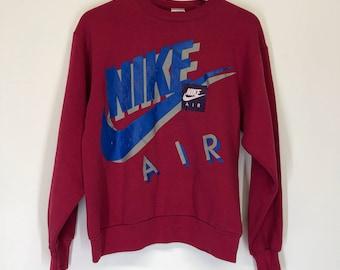Vtg 90's Nike Swoosh Grey Tag Sweatshirt