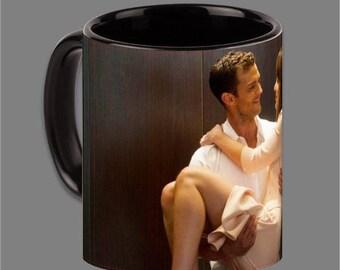 Dakota Johnson Jamie Dornan Coffee Cup Fifty Shades #0007