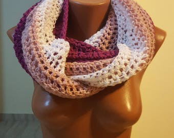 Handmade Scarf / Scarves / Infinity Crochet Scarf / White Scarf / Chunky Scarf / Winter Scarf / Winter Shawl / Gift for Her / Crochet Scarf