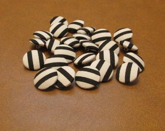 Black and white buttons-set of 25