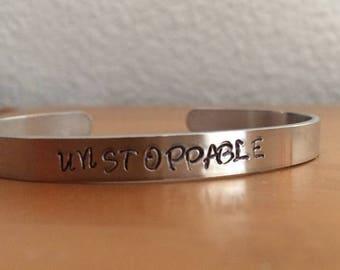 Unstoppable - Inspirational Cuff Bracelet
