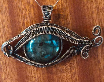 Labradorite eye pendants