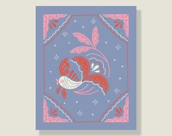 Folk Fish Print