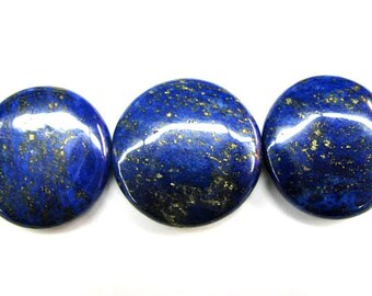 A+ 12-30mm Natural Lapis Lazulie big roundel disc coin Gemstone strand,Blue Gold,16 inch
