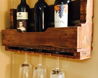 Handcrafted Pallet Wood Wine Rack
