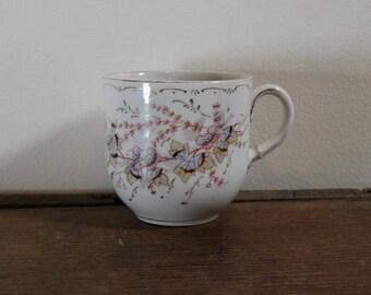 Pastel Floral Mustache Cup