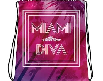 Miami Diva Drawstring bag