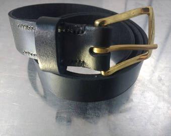 Handstitched leather belt
