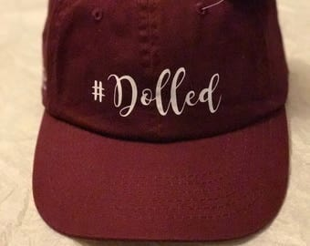 Dolled Hat with hashtag