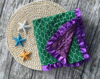 Mermaid Minky Baby Blanket