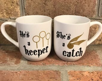 His and Her Harry Potter Mugs