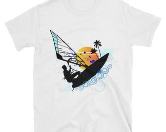 Wind Surfer Sunset Short-Sleeve Unisex T-Shirt