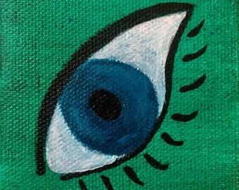 Mini Canvas Painting - Eye