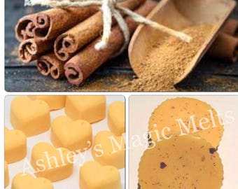 3 Cinnamon scented soy wax melts, food scented wax, highly fragranced melts, cheap wax melts, strong scented gifts for her